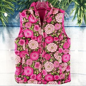 LILLY PULITZER REVERSIBLE DOWN VEST AE049